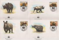 WWF Central Africa 1983 Beautiful Fdc Rhinoceros