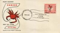 Pakistan Fdc 1967 Fight Against Cancer