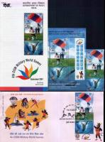 India 2007 Fdc S/Sheet & Stamps Csim Military World Game