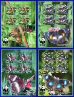 WWF Aitutaki 2008 Stamps Blue Moon Butterfly MNH