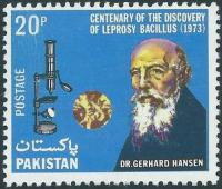 Pakistan Stamps 1973 Hansen's Discovery of Leprosy Bacillus