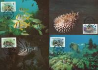 WWF Antigua & Barbuda1987 Maxi Cards Fishes
