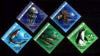 Russia 1991 Stamps Marine Life Dolphins Jellyfish Fishes