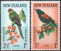 New Zealand 1962 Stamps Birds