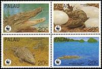 WWF Palau 1994 Stamps Crocodiles