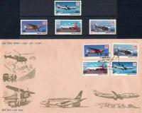 India Fdc & Stamp Mail Carrying Aircrafts Boeing Etc