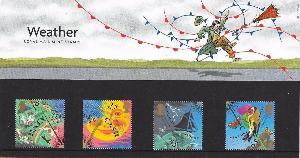 Great Britain 2001 Stamps Presentation Pack The Weather MNH