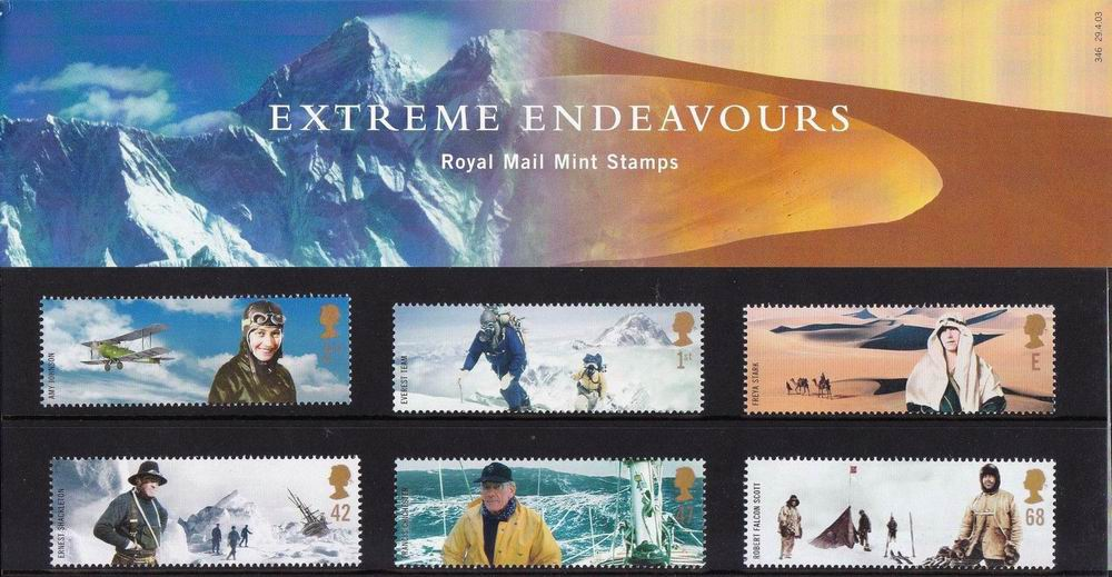 Great Britain 2003 Stamps Extreme Endeavours Presentation